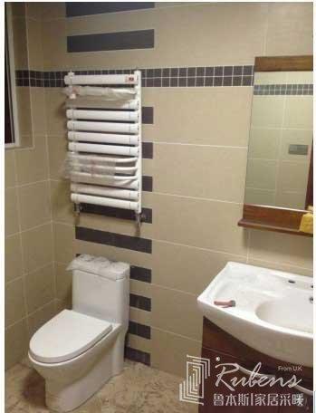卫生间小背篓暖气片安装位置效果图